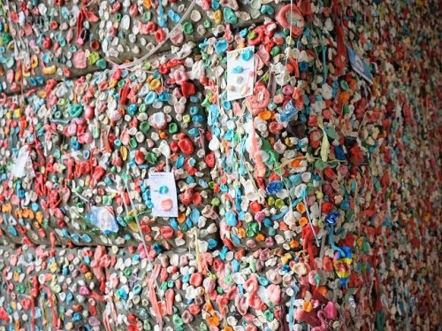 Pike place market gum wall