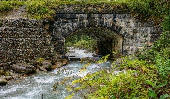 Old railway bridge near Glacier House