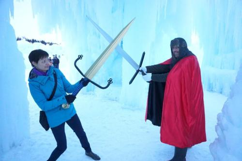 Red Knight at Edmonton Ice Castle
