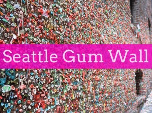 Seattle gum wall Post Alley near Pike's Market Seattle Washington
