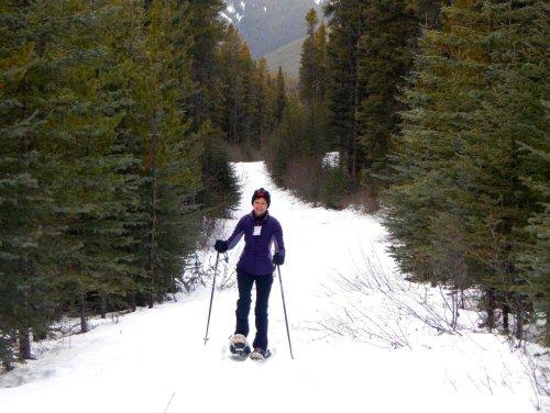 Snowshoeing Banff Mt Norquay