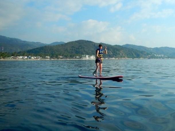 Stand up paddleboarding Manzanillo Bay