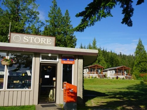 Store and cabins Blind Channel Resort