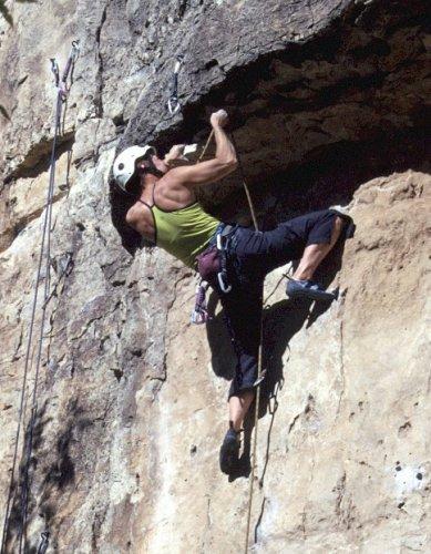 Lead rock climbing Arizona