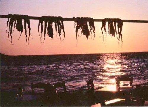 Sunset at Sundown restaurant, Mykonos