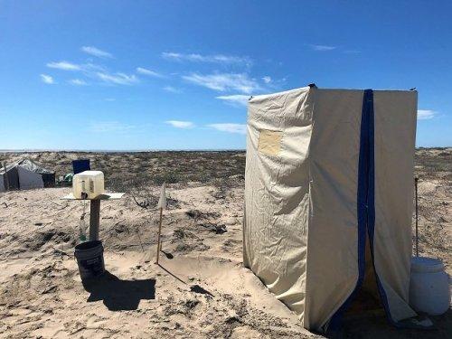 Toilet facilities Mar Y Aventuras whale watching camp