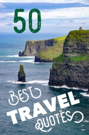 50 best travel quotes to inspire wanderlust. Ultimate travel quotations for adventure and inspiration #quotes #quotations #travel