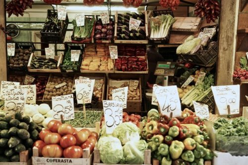 Vegetable market shop local