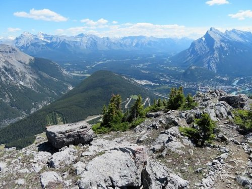 View Banff Bow Valley from Mt Norquay Via Ferrata