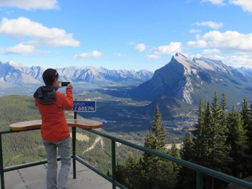 View of Banff from top of Mt Norquay chairlift