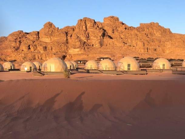 The Martian Domes at Sun City Camp in Jordan