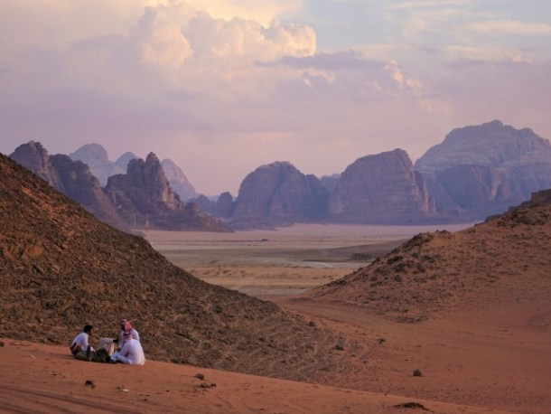 View of the Wadi Rum Landscape