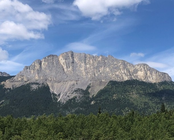 Mount Yamnuska from Highway 1A