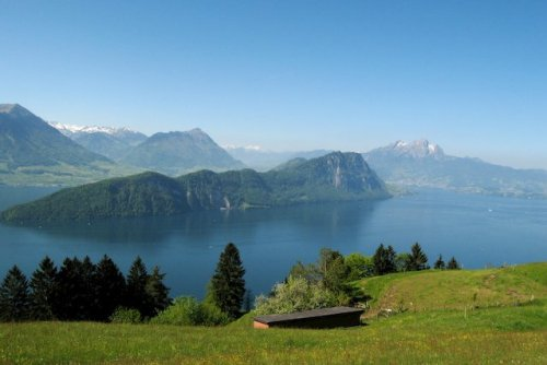 A view of the Burgenstock mountain from Mt Rigi