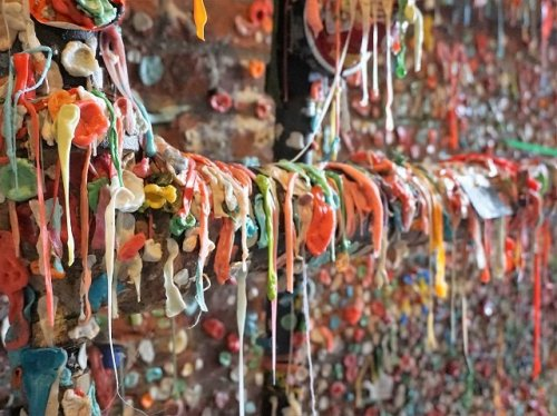 chewing gum wall Seattle
