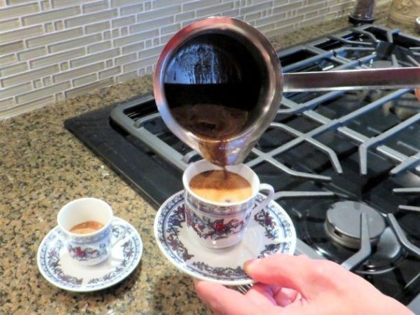 coffee grounds in cevze