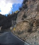 Nearing one of Several Switchbacks on the descent into Oak Creek Canyon
