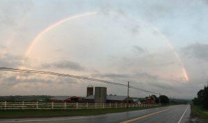 Rainbow Over a Farm near Cavendish