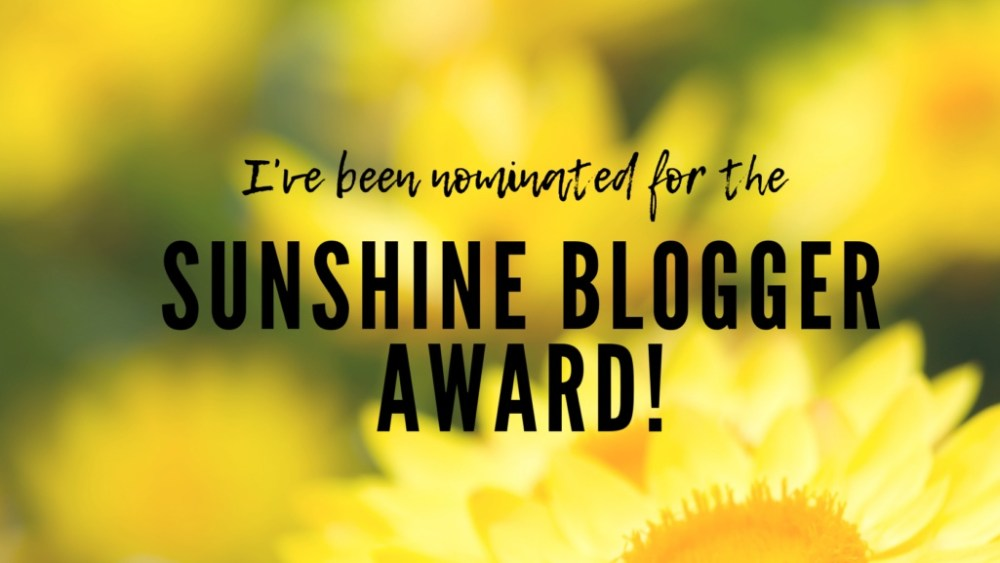 Sunshine Blogger Award Nominee