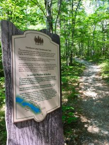 Hemlocks and Hardwoods Trail, First sign at Start of Trail