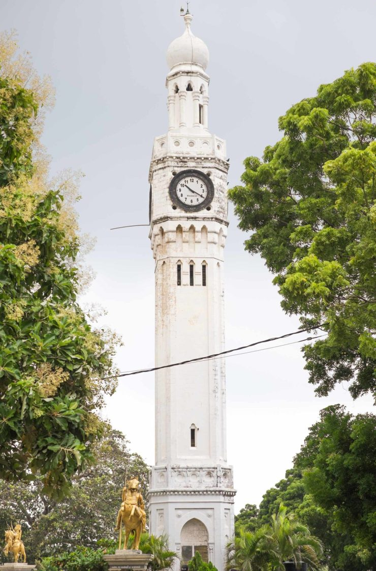 Jaffna clocktower, built to commemorate a visit from King Edward VII when he was still Prince of Wales.