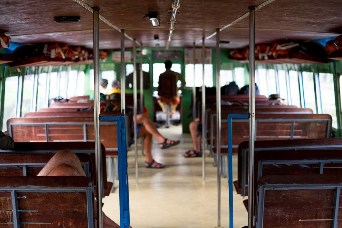 Taking the boat from Kollam to Alleppey