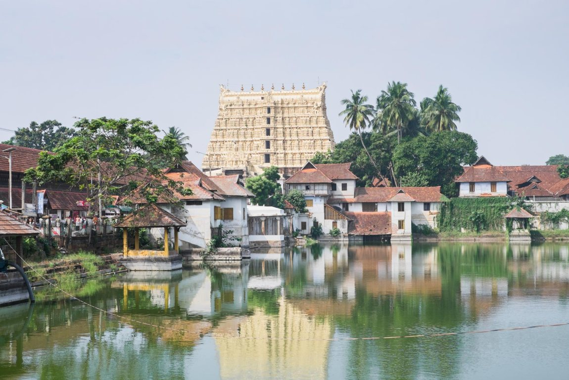 The Padmanabhaswamy Temple in Thiruvananthapuram
