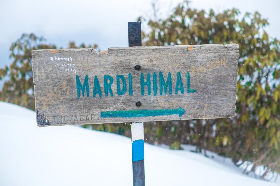 Mardi Himal Sign
