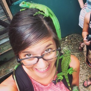 At the Iguana Conservation Project in San Ignacio, Belize