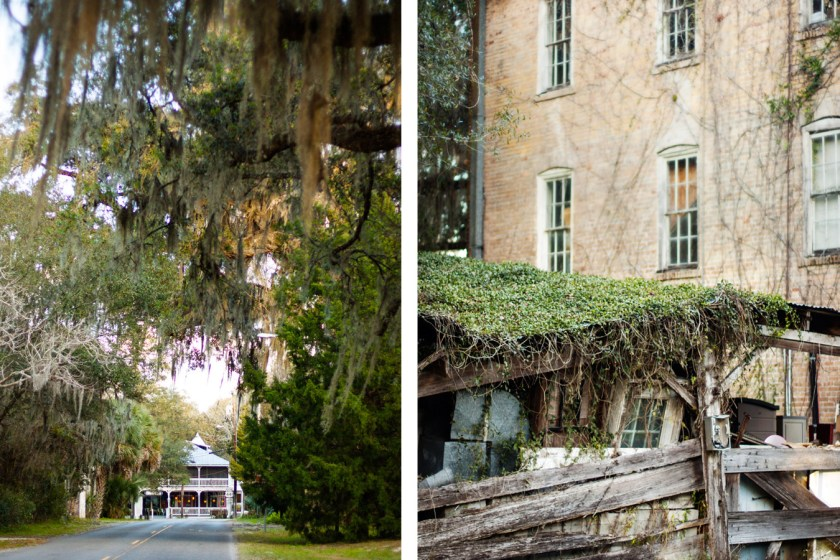 The quaint downtown of Micanopy, FL