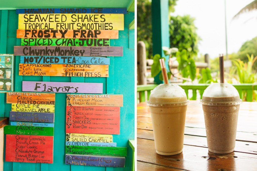 Seaweed Shakes at Brewed Awakenings - Placencia, Belize