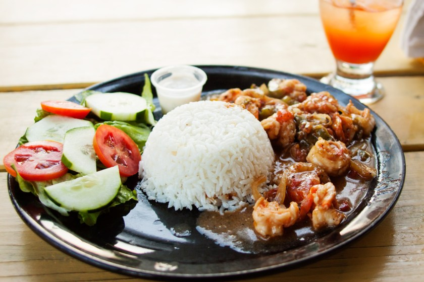 Jerk Shrimp at Maggie's Sunset Kitchen - Caye Caulker, Belize