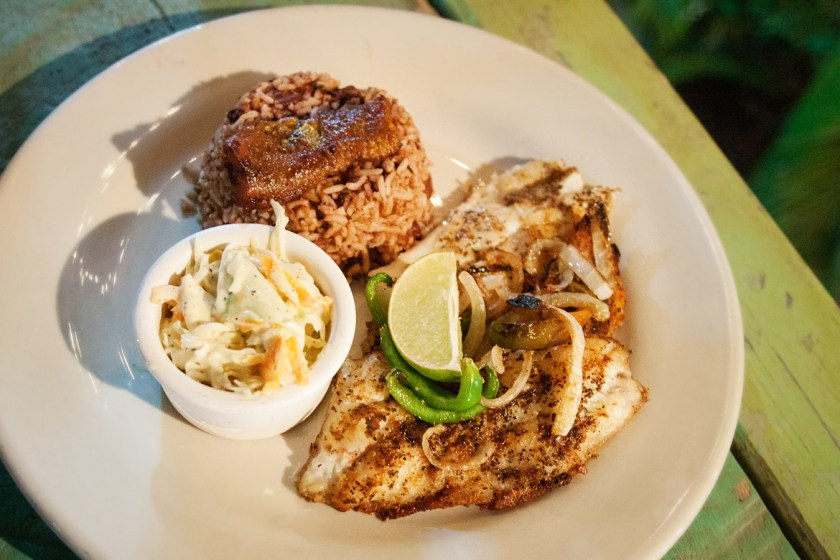 Fresh catch of the day at Omar's Creole Grub - Placencia, Belize