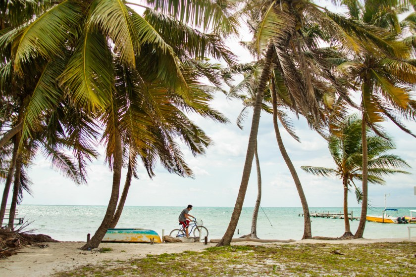 Biking is the best way to get around the tiny island of Caye Caulker, Belize