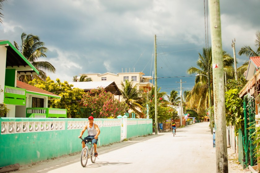Bicycles are the best way to get around Caye Caulker, Belize