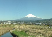 Mount Fiji from bullet train