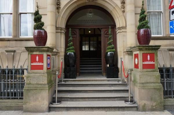 Entrance of the Leopold Hotel Sheffield
