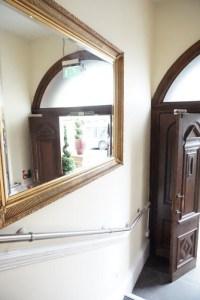 Leopold Hotel Sheffield mirrored entrance