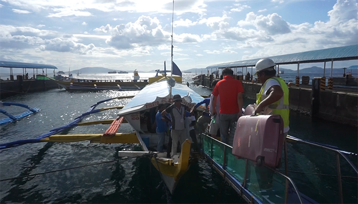 Outrigger boat in the Philippines