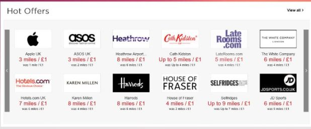 Virgin Flying Miles shop earnings rate