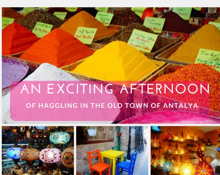 Scenes of the old town in Antalya