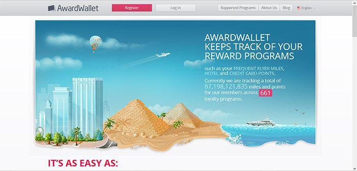 Award Wallet screenprint