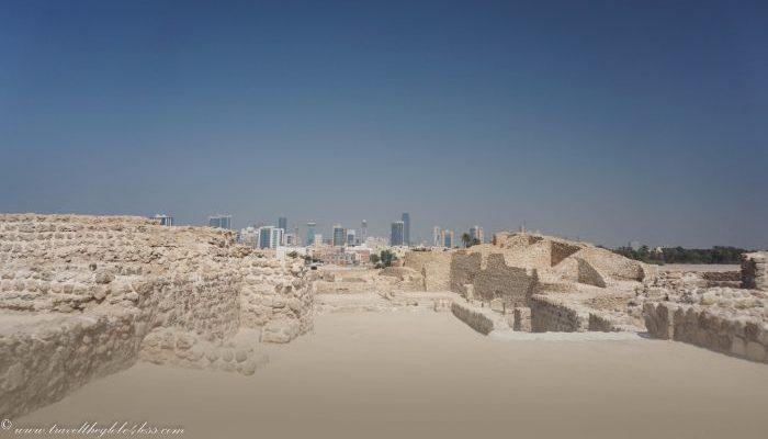 The inner courtyard of Bahrain Fort