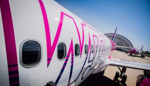 Wizz Air distinctive pink livery