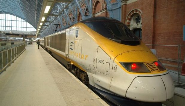 The Eurostar at St Pancras