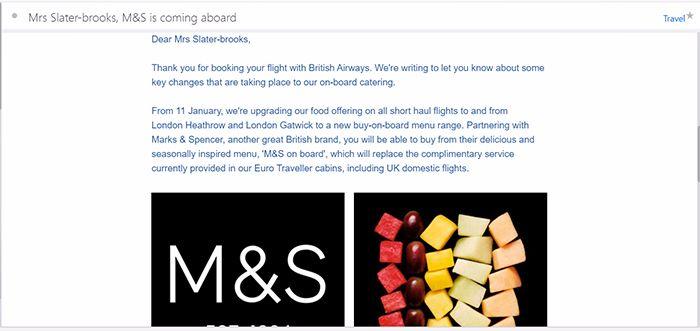 British Airways food screenshot 3