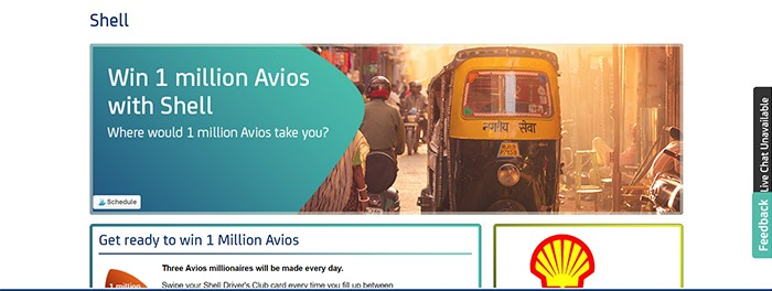 Win 1 million AVIOS screenshot