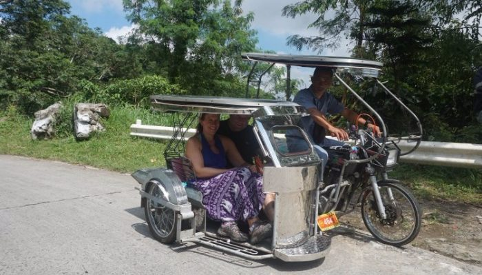 Taking a tricycle to Taal Volcano