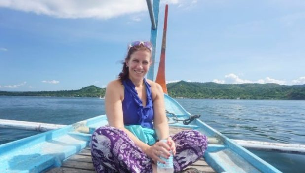 Catching a boat to the crater at Taal Volcano