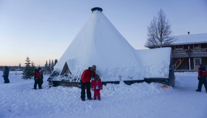 The Reindeer Village warming hut